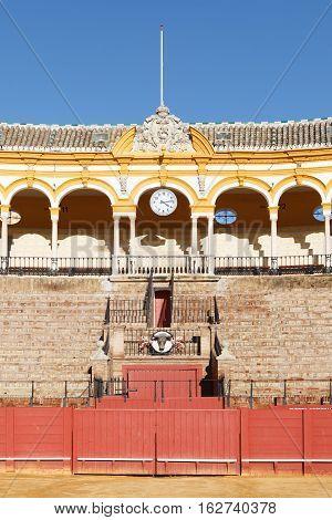 Plaza De Los Toros At Seville, Spain