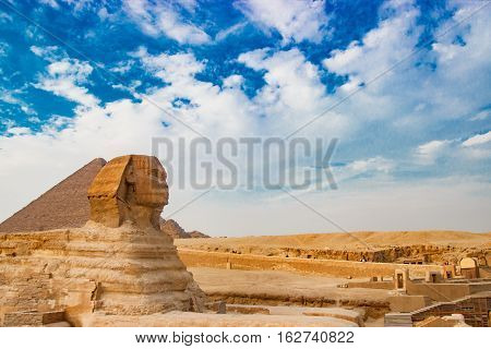 Sphinx Monument View in Giza, Egypt, Africa