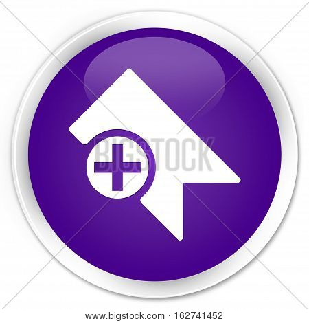 Bookmark Icon Premium Purple Round Button