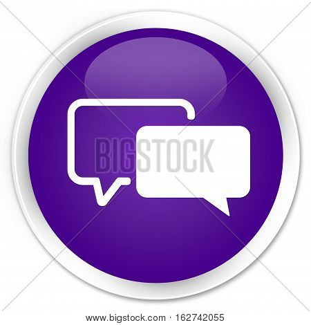 Testimonials Icon Premium Purple Round Button