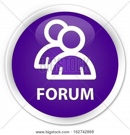 Forum (group Icon) Premium Purple Round Button