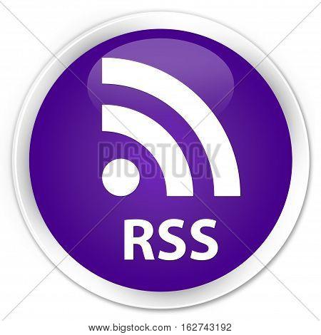 Rss Premium Purple Round Button