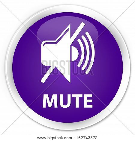 Mute Premium Purple Round Button