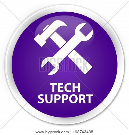 Tech Support (tools Icon) Premium Purple Round Button