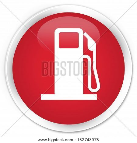 Fuel Dispenser Icon Premium Red Round Button