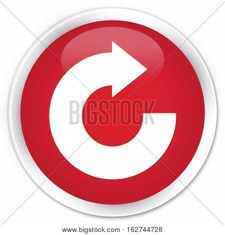 Reply Arrow Icon Premium Red Round Button