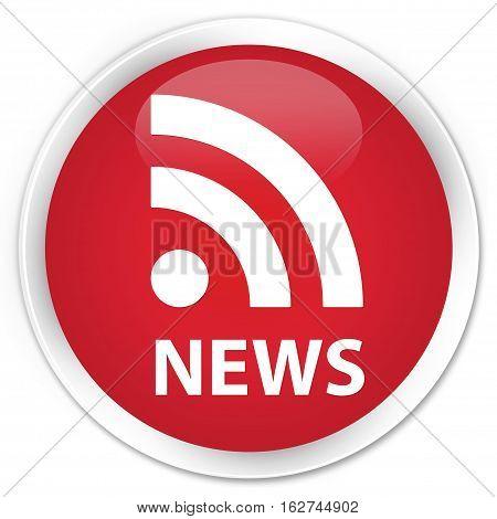 News (rss Icon) Premium Red Round Button
