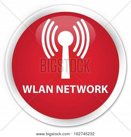 Wlan Network Premium Red Round Button