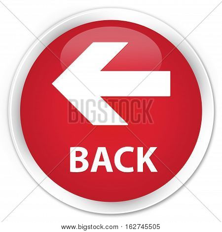Back Premium Red Round Button