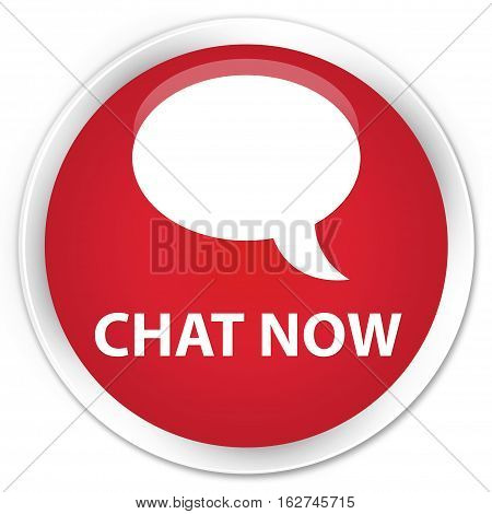 Chat Now Premium Red Round Button