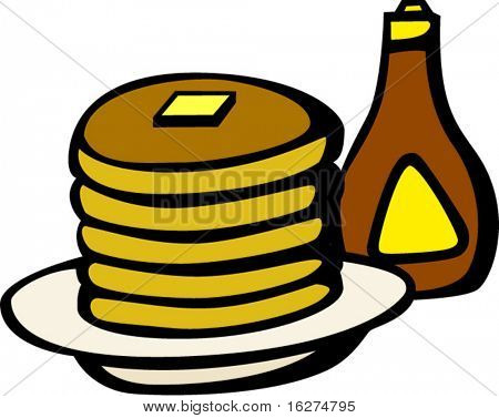hot cakes and syrup