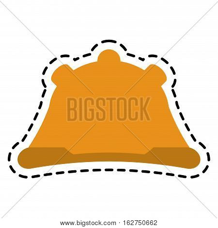 Helmet icon. Industrial security safety and protection theme. Isolated design. Vector illustration
