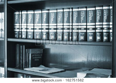 Legal Books In Lawyers Office
