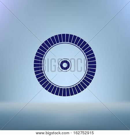 Diamond Disc For Concrete Cutting Vector Icon