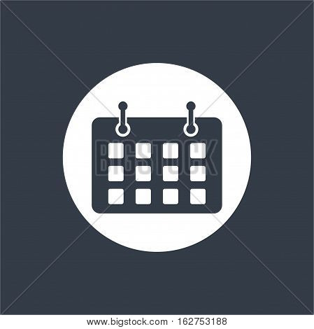 agenda note calender flat design, web seo icon