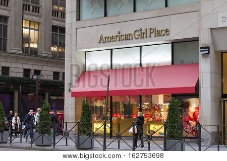 The American Girl Place Store, An Upscale Doll Boutique Focusing On Toys For Girls, In New York City