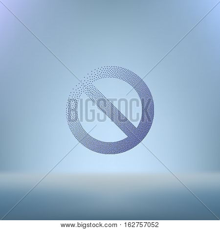 Stippled Forbidden Sign Isolated