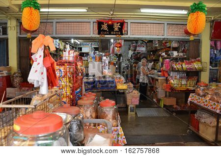 Traditional Grocery Shop In Chinatown, Singapore