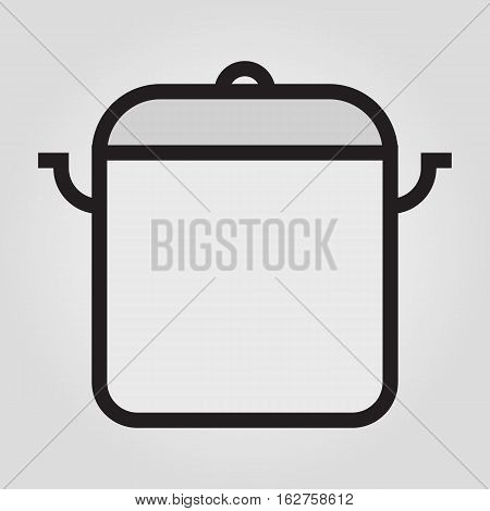 Stew pan icon in trendy flat style isolated on grey background. Kitchen symbol for your design, logo, UI. Vector illustration, EPS10.
