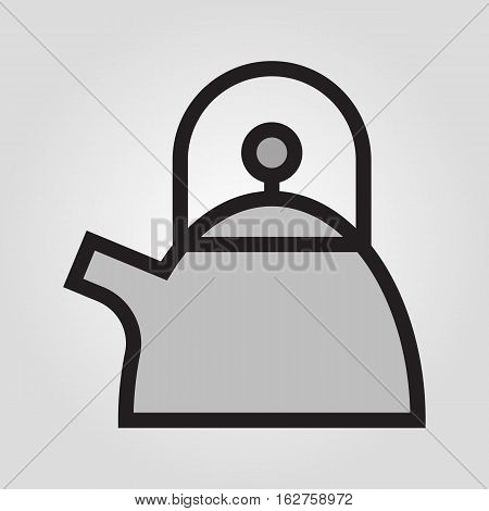 Teapot icon in trendy flat style isolated on grey background. Kitchen symbol for your design, logo, UI. Vector illustration, EPS10.