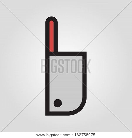 Chopping knife icon in trendy flat style isolated on grey background. Kitchen symbol for your design, logo, UI. Vector illustration, EPS10.