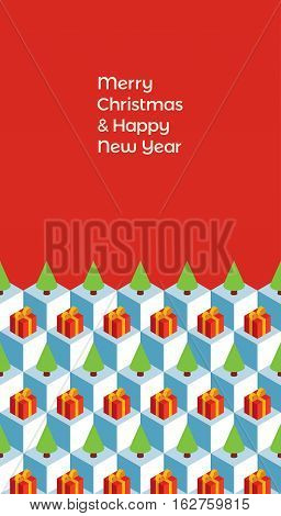 Vector design. Isometric pattern and text