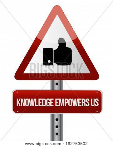 Knowledge Empowers Us Like Road Sign Concept