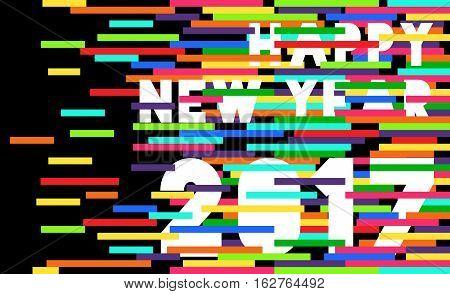 Happy New Year 2017 Quote Typography Design