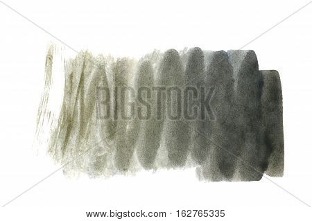 Black watercolor background. The gradient transition of color from saturated black to light black. Design elements. Painting. Grunge colorful background on watercolor paper.