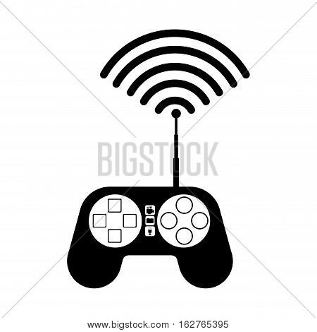 Drone control icon. Technology remote aircraft uav spy and robot theme. Isolated design. Vector illustration
