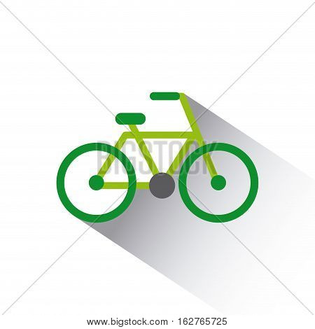 green bicycle vehicle icon over white background. colorful design. vector illustration