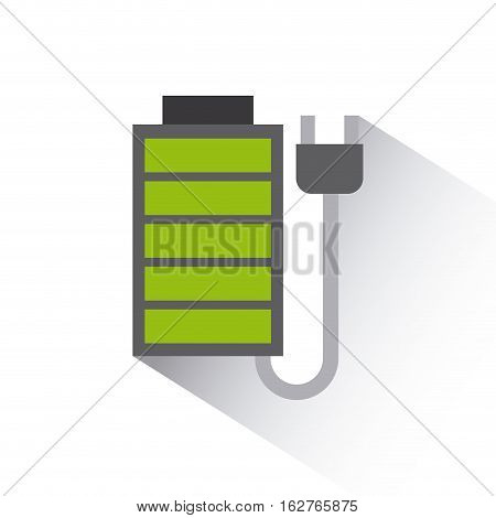 battery and plug icon over white background. colorful design. vector illustration