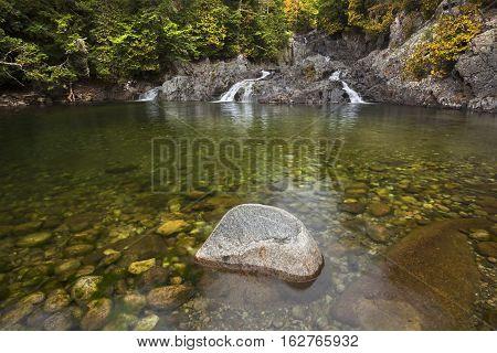 Bottom of Split Rock Falls in the Adirondacks New York