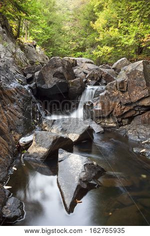 Small Cascade on Bay Brook Adirondacks New York