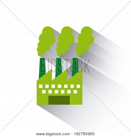 factory building icon over white background. colorful design. vector illustration