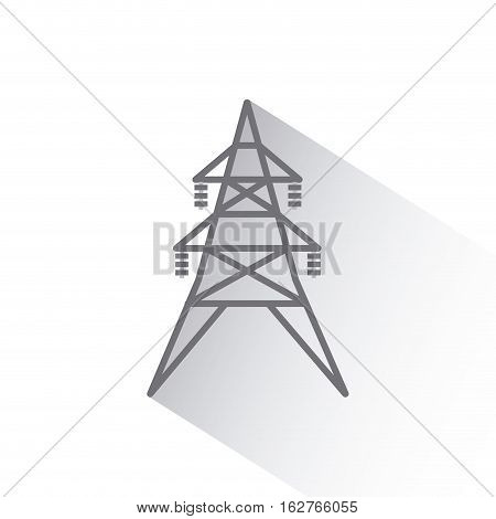 energy tower structure icon over white background. vector illustration
