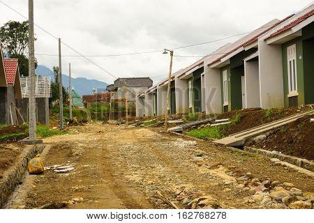 Intermediate housing project in Bogor photo taken in Indonesia java