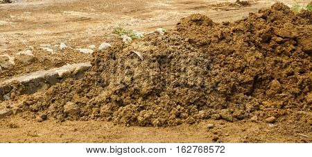 Mound of soils photo taken in Bogor Indonesia java