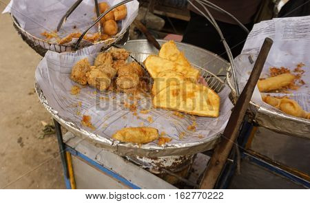 Gorengan is very common in Indonesia for everyday meals photo taken in Bogor Indonesia java