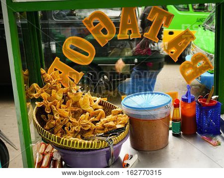 Batagor as one of popular meal from West Jawa photo taken in Bogor Indonesia java