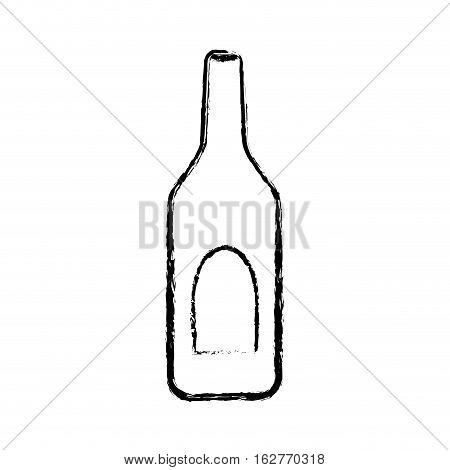 Winne bottle beverage icon vector illustration graphic design