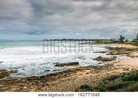 Picturesque view at Surfers beach at Middleton South Australia