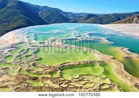 Hierve El Agua In The Central Valleys Of Oaxaca. Mexico