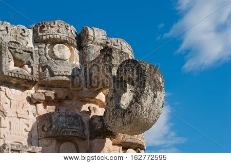 Chaac Statue In Kabah, Yucatan, Mexico