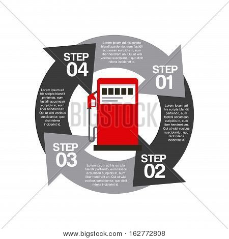 infographic presentation of gas station design. colorful design. vector illustration