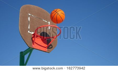 old basketball hoop, street basketball throw the ball sport in basket