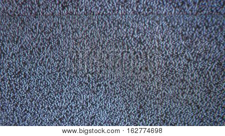 Television signal tv flicker noise screen with static caused by bad reception