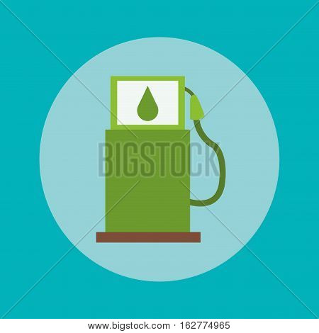 Bio fuel icon. Ecology renewable and conservation theme. Colorful design. Vector illustration