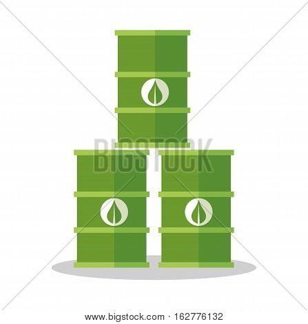 Bio fuel barrel icon. Ecology renewable and conservation theme. Colorful design. Vector illustration