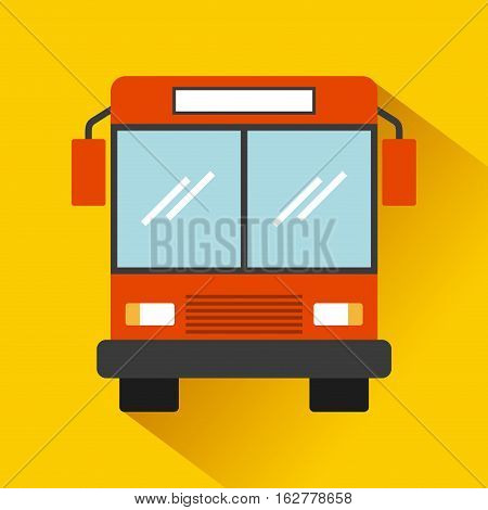 bus vehicle icon over yellow background. colorful design. vector illustration